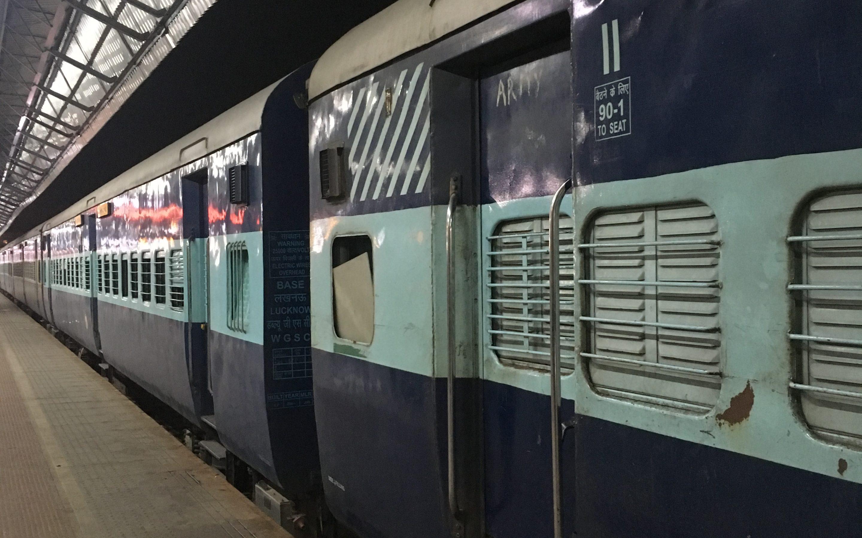 Andar de comboio na Índia…